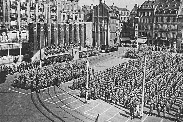 13 octobre 1941 manifestation nazie Place Kleber (Karl Roos Platz)