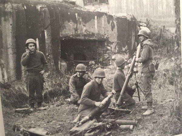 45th Position de mortier à Lembach décembre 1944