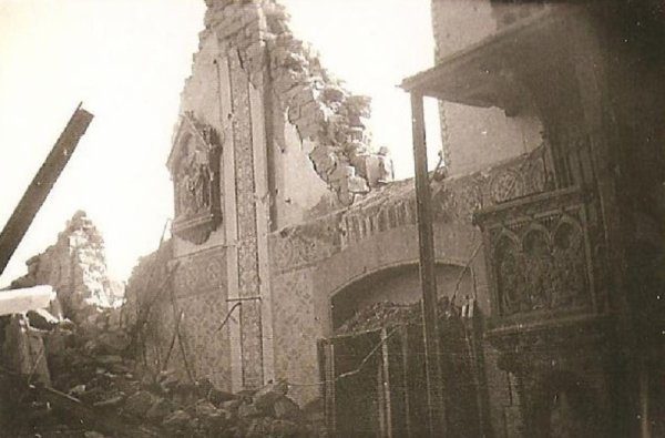 Eglise en ruine 1945 kindwiller
