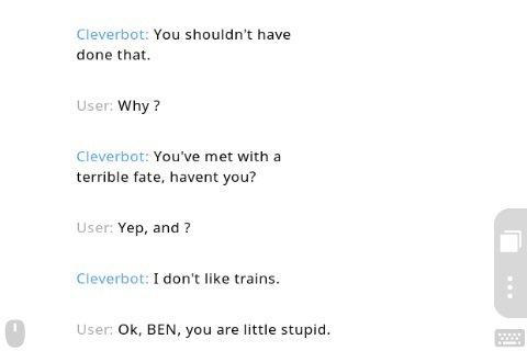 BEN DROWNED SUR CLEVERBOT