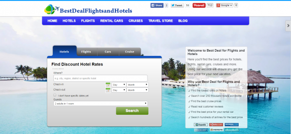 Best Deal for Flights and Hotels