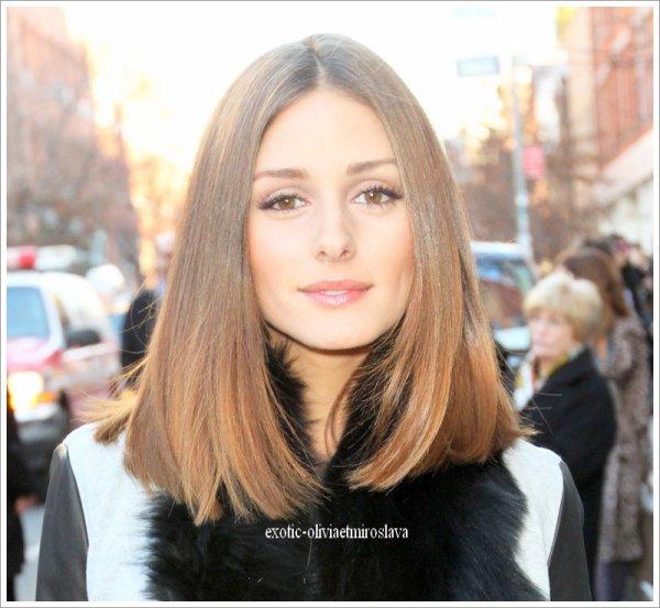 Soiré Olivia Palermo assistant aux défilés de New York