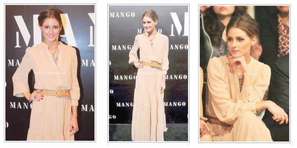 Soiré Olivia Palermo au show Mango a Shangai