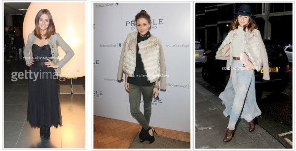 Soiré Olivia Palermo aux differents défilés de la Fashion Week