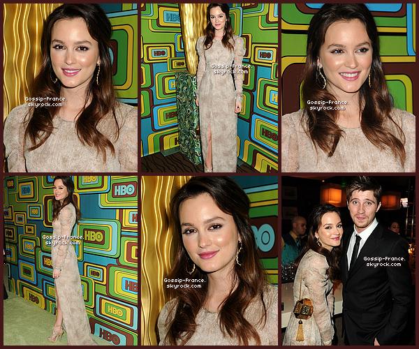 """.  68ème cérémonie des """"Golden Globe Awards"""" à Beverly Hills-(16/01)  Leighton a opté pour une robe Burberry beaucoup plus sage que la Vuitton porté la veille ! ."""