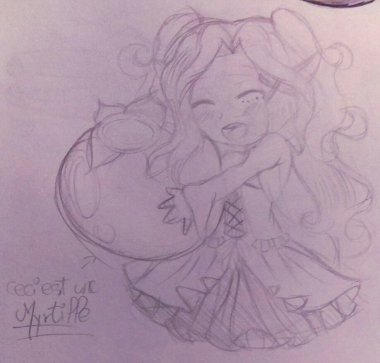 Yukia adore les myrtilles :3