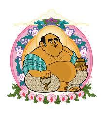 Une caricature de Jean Benguigui en Bouddha par Lapuss'...