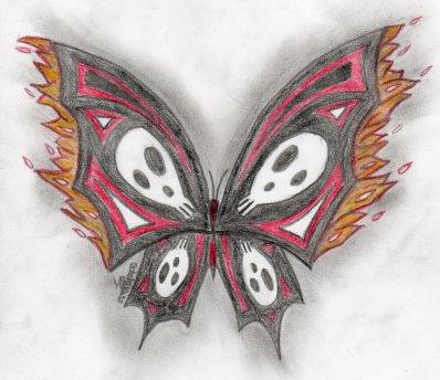 Papillon, ce billet doux plié cherche une adresse de fleur.  J.R