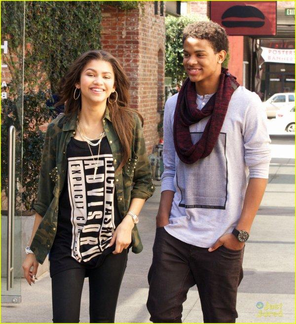 Zendaya et Trevor Jackson .