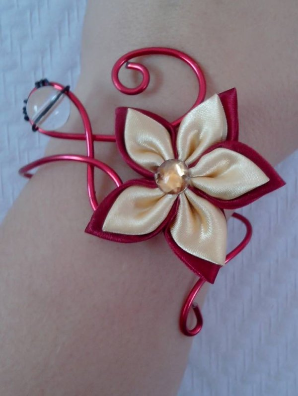 Bracelets fil alu