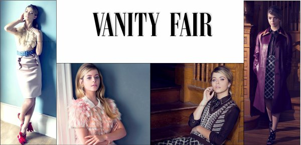 • • Shooting photo de Sasha Pieterse pour Vanity Fair 2014.