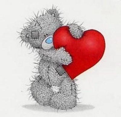 petit nounours avec un coeur rouge - Petit Nounours