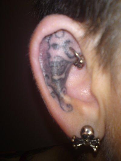 Piercing dans l'oreille!!!