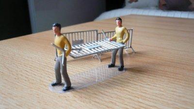 Convois logistiques ; porte barrières et du chapiteau ...