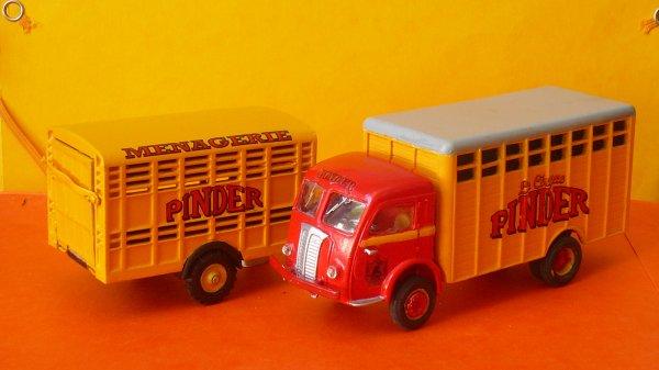 Convoi ménagerie bétaillère animaux exotiques ... camion & remorque