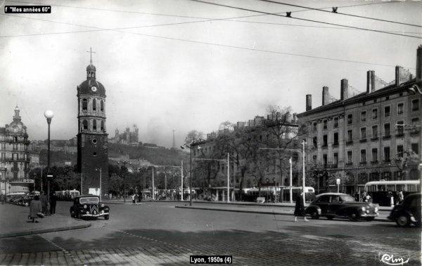 La Tournée 1957; villes traversée en Juin ...