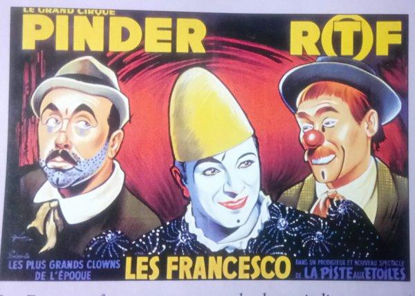 1935 / 1967 Les Trois Frères Francesco, clowns et Les Carolis ...