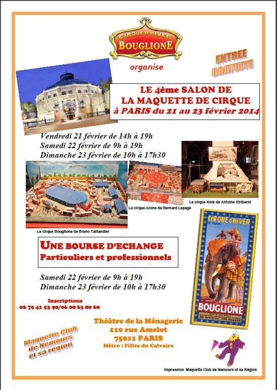 4 ème Salon de la Maquette de Cirque, au Cirque d'Hiver Bouglione à Paris