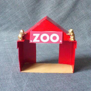"""Mon petit bricolage """" une tente pour l'entrée du Zoo du cirque """" et de trois !"""