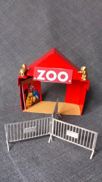 """Mon petit bricolage """" une tente pour l'entrée du Zoo du cirque """" la dernière partie !"""