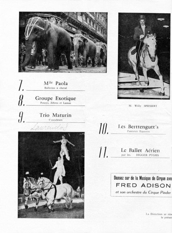 Demandez le programme de Pinder 1959 ... 60 ans / 2019