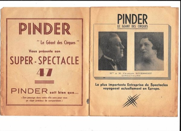 Demandez le programme du spectacle Pinder en 1947