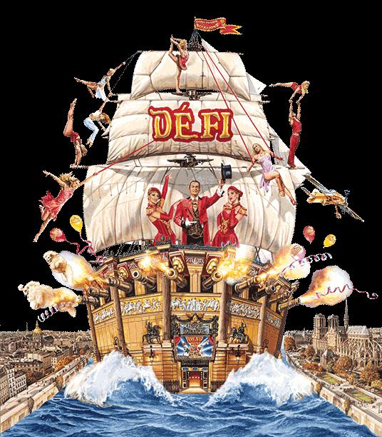 """Le Nouveau Spectacle du Cirque d'Hiver Bouglione """" DEFI"""""""