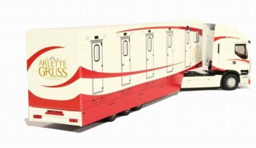 les mêmes convois routiers d'Arlette Gruss mais en modèles réduits