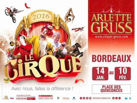 Début de la tournée d' Arlette Gruss 2016 à Bordeaux