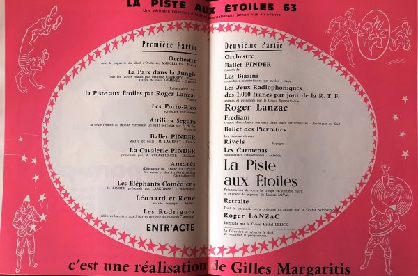 Le Programme Officiel du spectacle 1963 ...