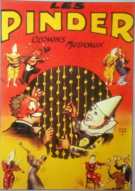 Les Clowns Pinder dans les affiches ...