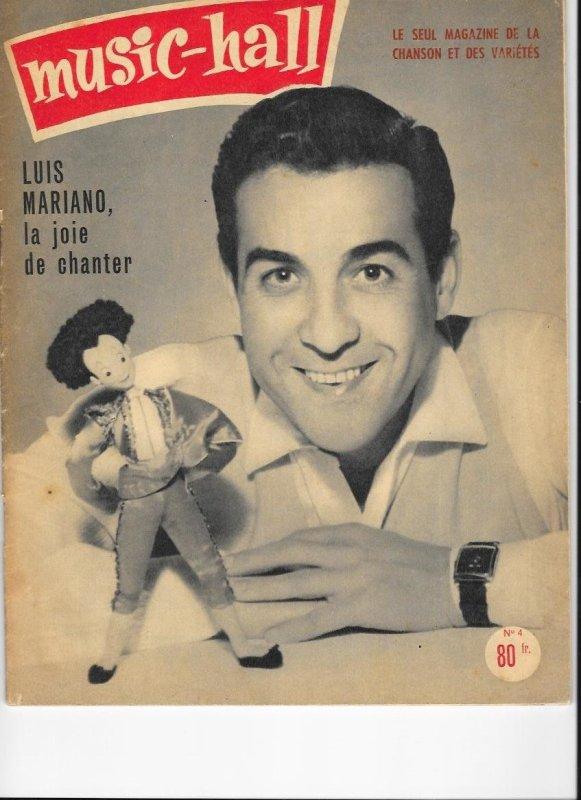 LUIS MARIANO fait la couverture du magazine MUSIC-HALL