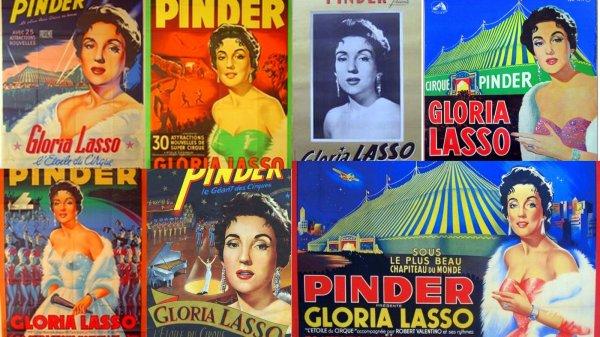 Les vedettes de la chansons sur les affiches de Pinder