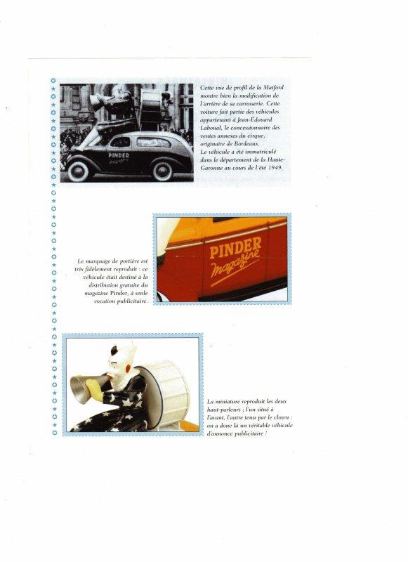 """Le N° 1; En septembre 2002  """" Le MATFORD voiture Clown """" véhicule de parade..."""