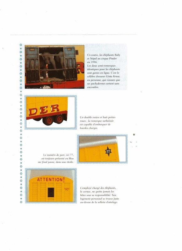 """N° 2; Septembre 2002 """" Le tracteur MARMON avec la Semi remorque des éléphants"""" ..."""