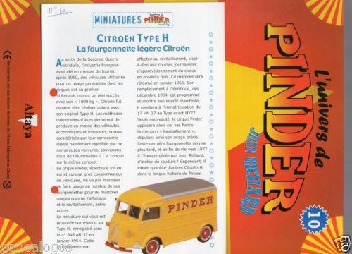 """N° 10; En Janvier 2003 """" Citroen Type H"""""""