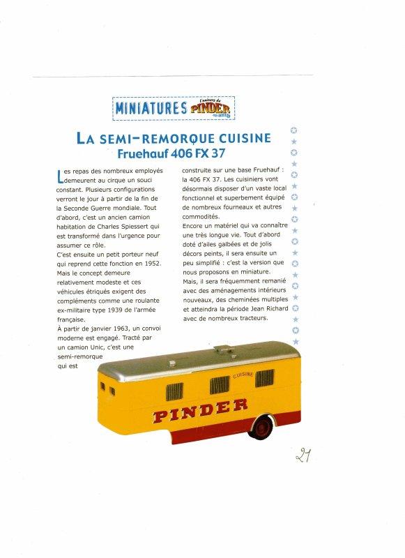 """N° 21; Courant 2003  """" La remorque cuisine Fruehauf"""" ..."""