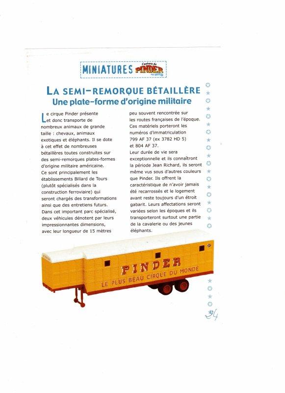 "N° 24;Courant  2003 "" Semi remorque Bétaillère """