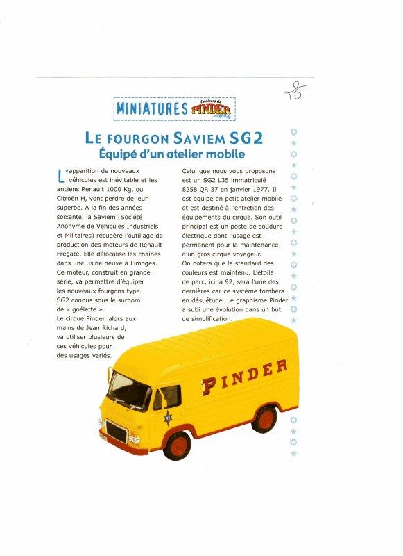 "N° 27 ; Courant 2003 "" Fourgon SAVIEM SG2"" atelier mobile ..."