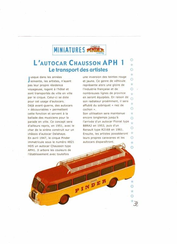 """N°38; En Mars 2004 """" L' Autocar Chausson"""""""