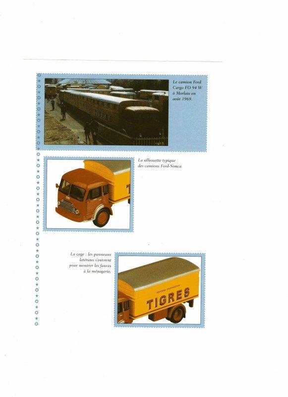 """N°40 ; En Avril 2004 """" Camion Ford Cargo transport des Fauves"""""""