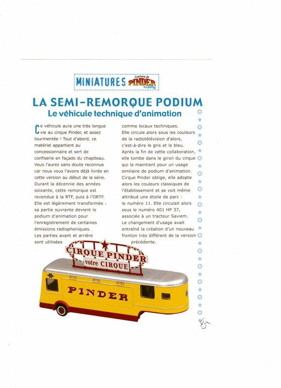 """N° 45 ; En Juillet 2004 """" Le Semi Remorque Porte Podium du Cirque """""""