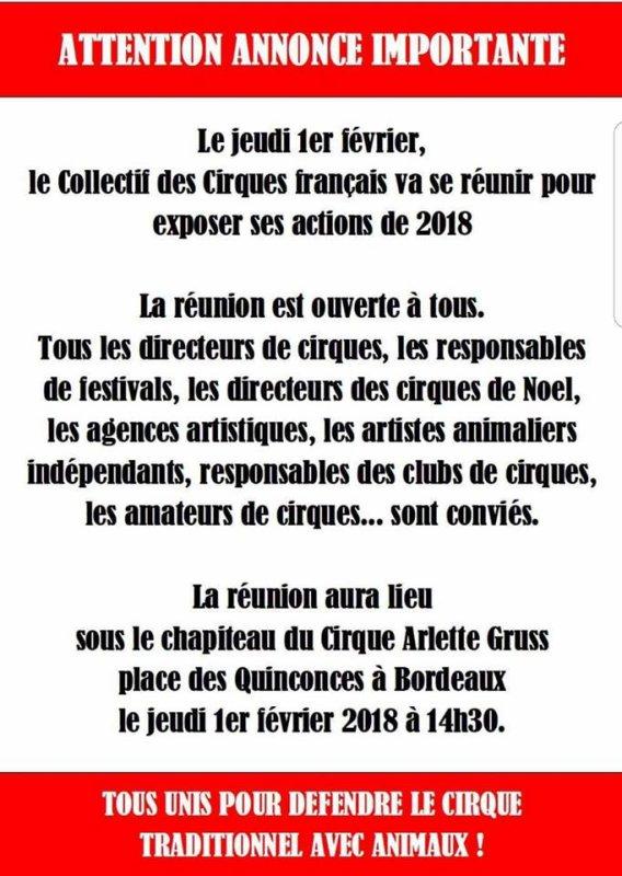 Unis pour défendre le cirque traditionnel avec animaux ...