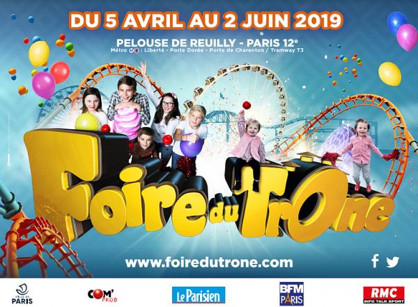 Foire du Trône 2019 à Paris Pelouse de Reuilly