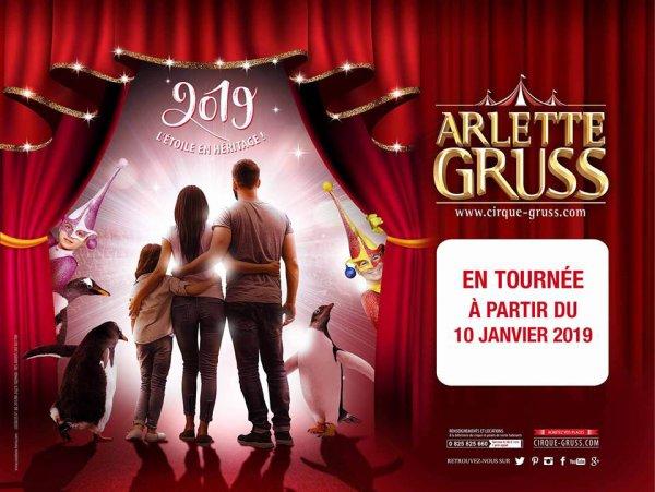 L'ETOILE EN HÉRITAGE Nouveau spectacle 2019 du Cirque Arlette Gruss