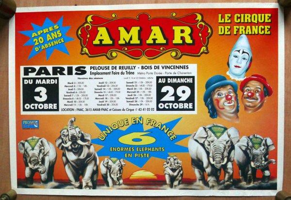 Cirque AMAR, direction RECH dans les années 80 pelouse de Reuilly