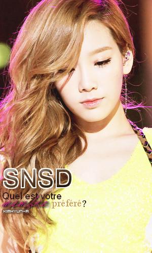 Girls Generation - Quel est votre membre préféré?