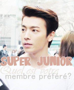 SUPER JUNIOR - Qui est votre membre préféré?