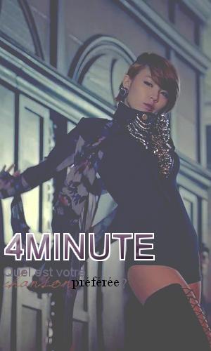 4minute - Quel est votre chanson préféré?