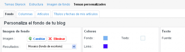 Novedades: ¡Personaliza el aspecto de tu blog!